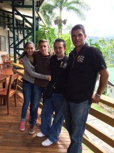 Team teaching at Wilson Botanical Garden