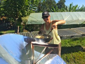 Solar Parabolic cooking